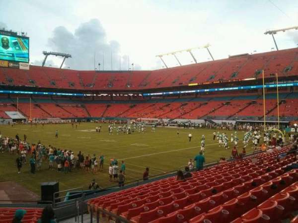 Hard Rock Stadium, section: 106, row: 14, seat: 1