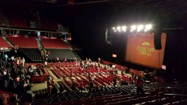 Liacouras Center, section: 105, row: V, seat: 11