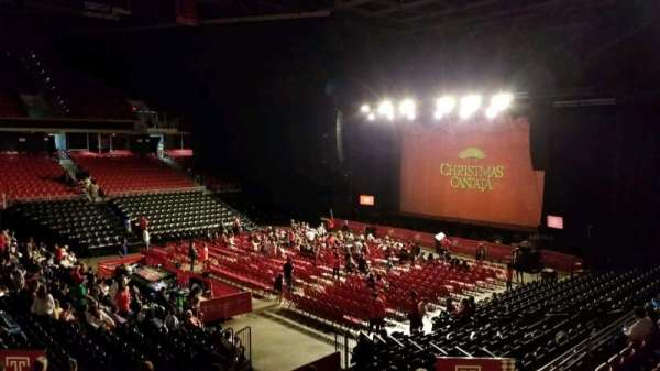 Liacouras Center, section: 106, row: V, seat: 7