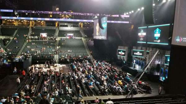 Barclays Center, section: 8, row: WC