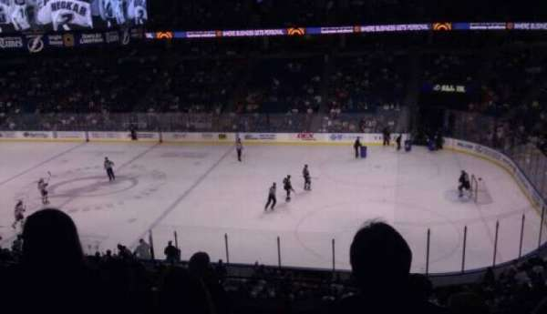 Amalie Arena, section: 229, row: f, seat: 4