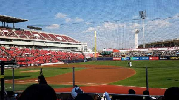 KT Wiz Park, section: 108, row: 5, seat: 55