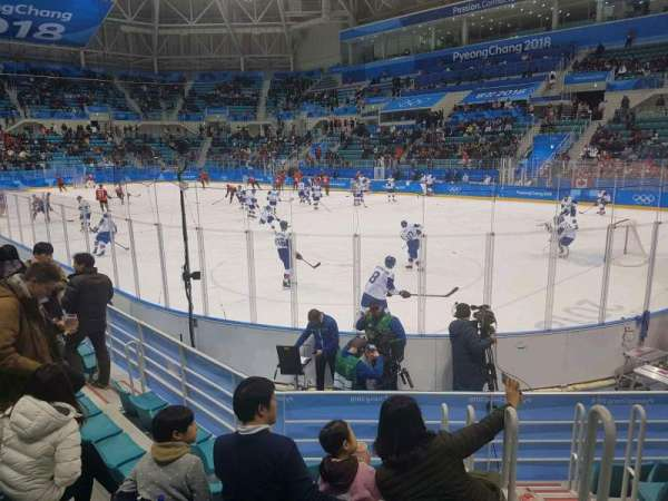 Gangneung Ice Hockey Centre, section: 109, row: D, seat: 2