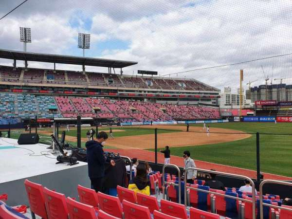 KT Wiz Park, section: 106, row: 5, seat: 49
