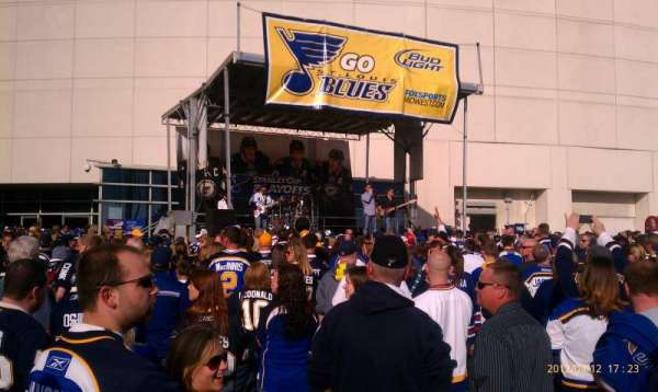 Enterprise Center, section: Blues playoff rally