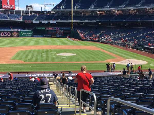 Nationals Park, section: 116, row: RR, seat: 1