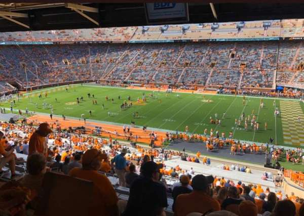 Neyland Stadium, section: A, row: 60ish