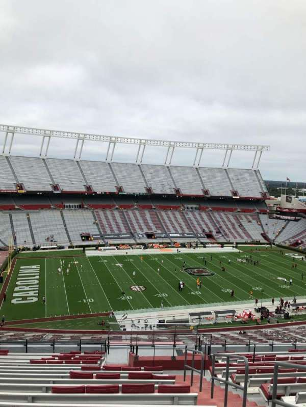 Williams-Brice Stadium, section: 302, row: 20, seat: 1