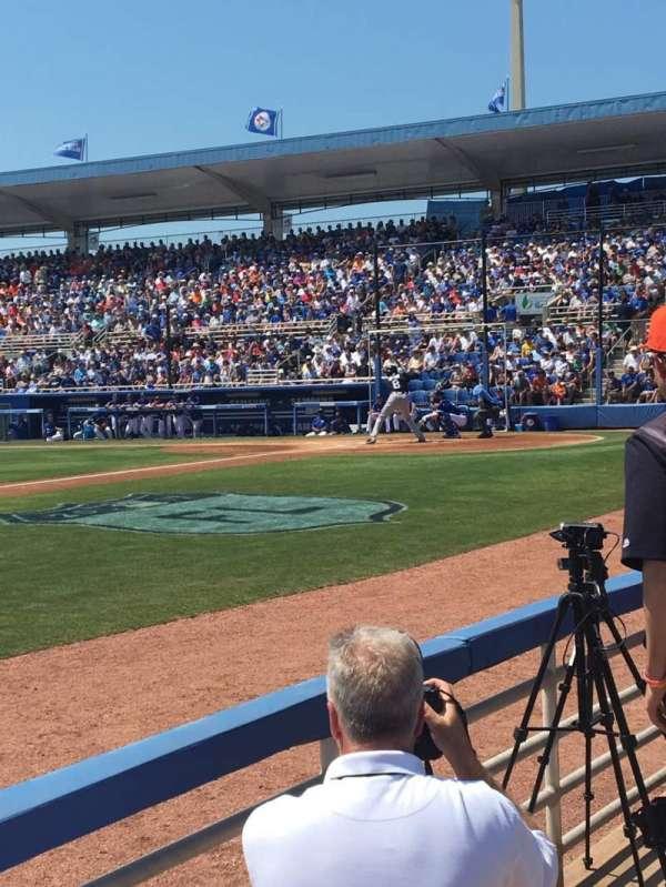 TD Ballpark, section: 110, row: 2, seat: 10