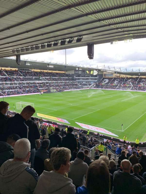 Pride Park, section: Upper Block B, row: S, seat: 596