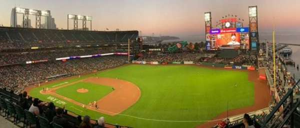 Oracle Park, section: VR304, row: 1, seat: 8