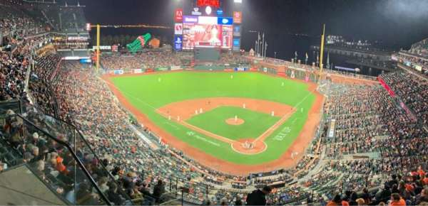 Oracle Park, section: VR317, row: 1, seat: 19