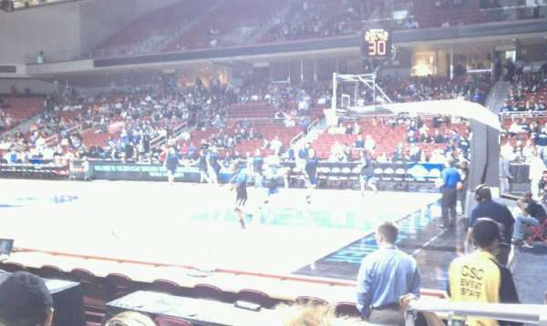 Liacouras Center, section: 111, row: F, seat: 1