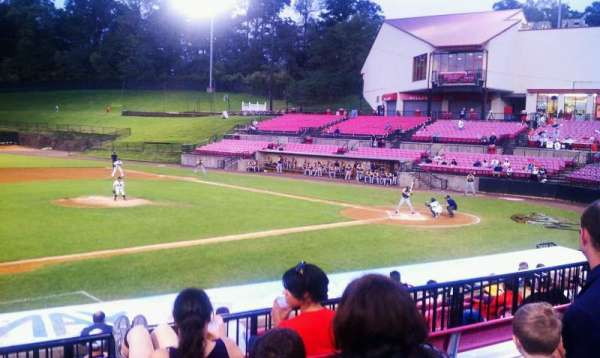 Yogi Berra Stadium, section: DD, row: 3, seat: 1