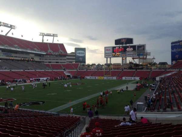 Raymond James Stadium, section: 127, row: Z, seat: 5