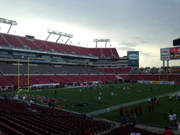 Raymond James Stadium, section: 127, row: Z, seat: 10