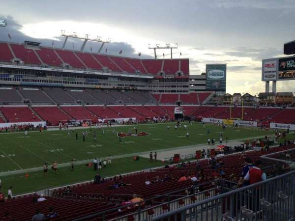 Raymond James Stadium, section: 232, row: C, seat: 8