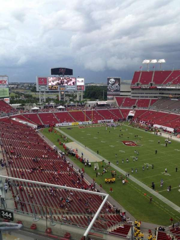 Raymond James Stadium, section: 344, row: C, seat: 7