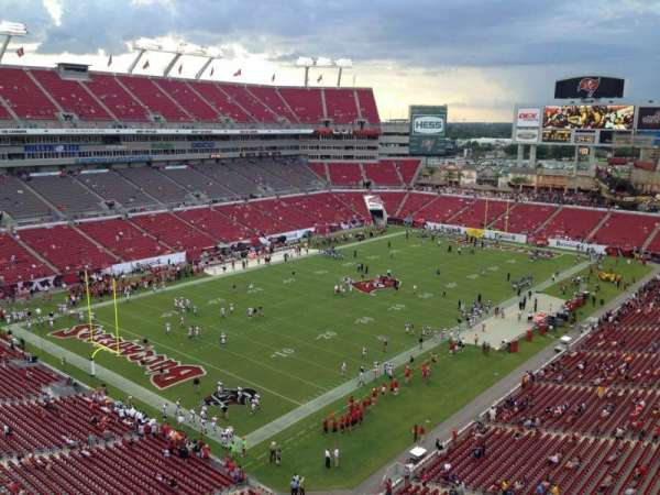 Raymond James Stadium, section: 327, row: A, seat: 6