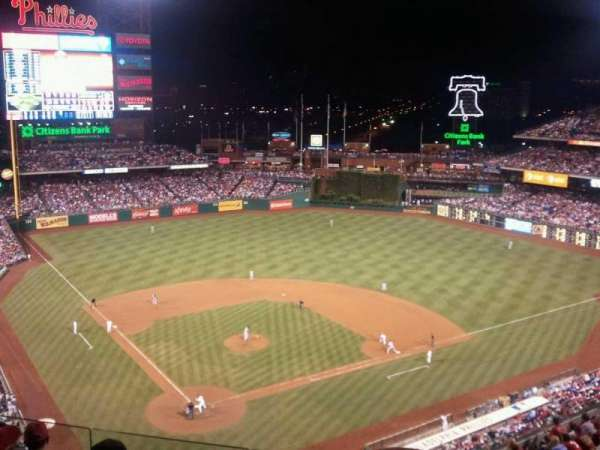 Citizens Bank Park, section: 419, row: 6, seat: 9