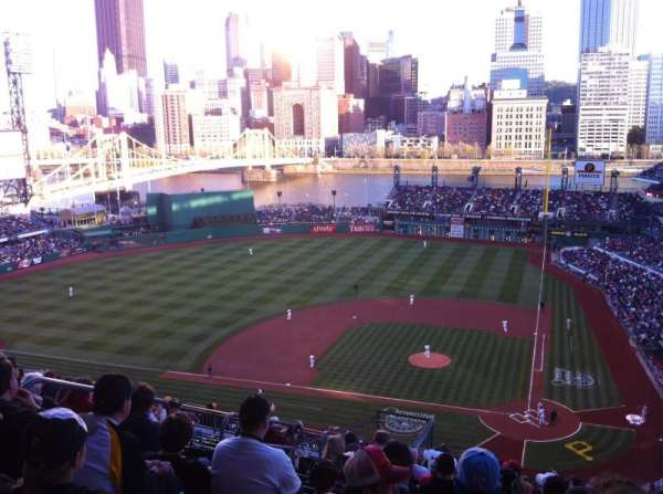PNC Park, section: 320, row: V, seat: 4