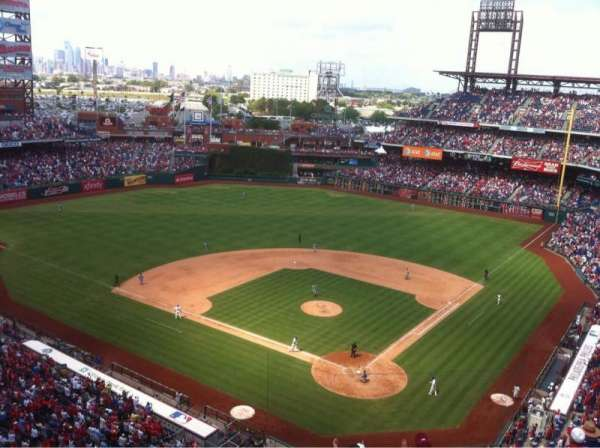 Citizens Bank Park, section: 422, row: 2, seat: 9
