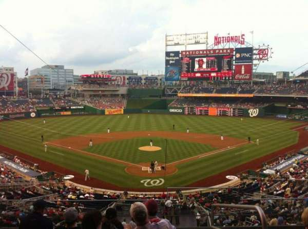 Nationals Park, section: 213, row: F, seat: 1