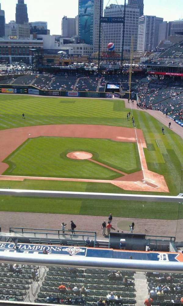 Comerica Park, section: 332, row: b, seat: 8