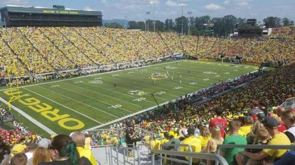 Autzen Stadium, section: 37, row: 55, seat: 1