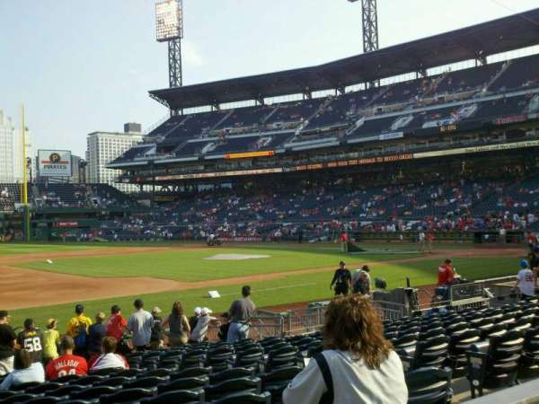 PNC Park, section: 125, row: A, seat: 7