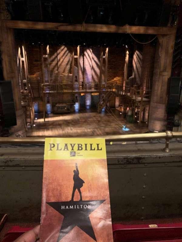 CIBC Theatre, section: Mezzanine LC, row: B, seat: 313