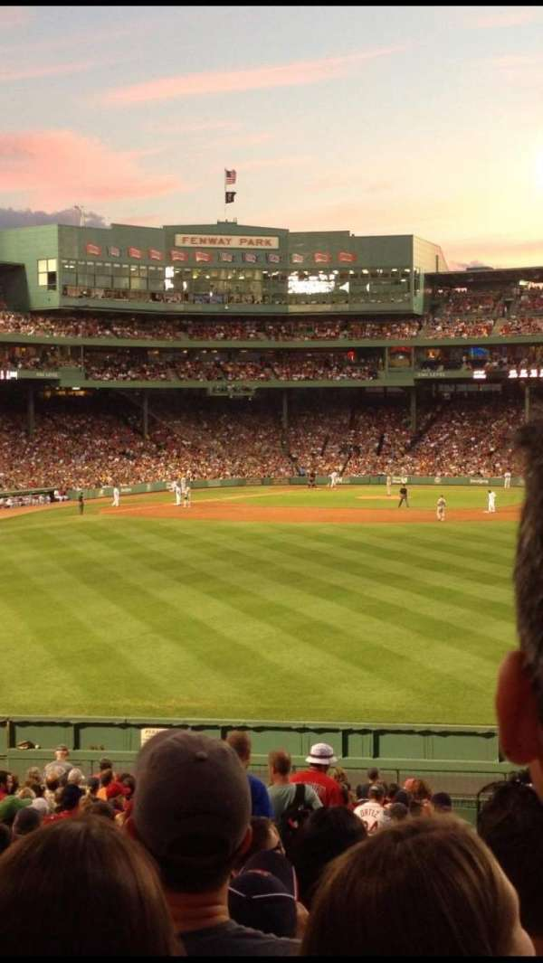 Fenway Park, section: Bleacher 39, row: 27, seat: 7