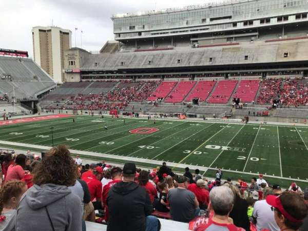 Ohio Stadium, section: 18a, row: 19, seat: 3