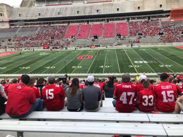 Ohio Stadium, section: 20a, row: 24, seat: 11
