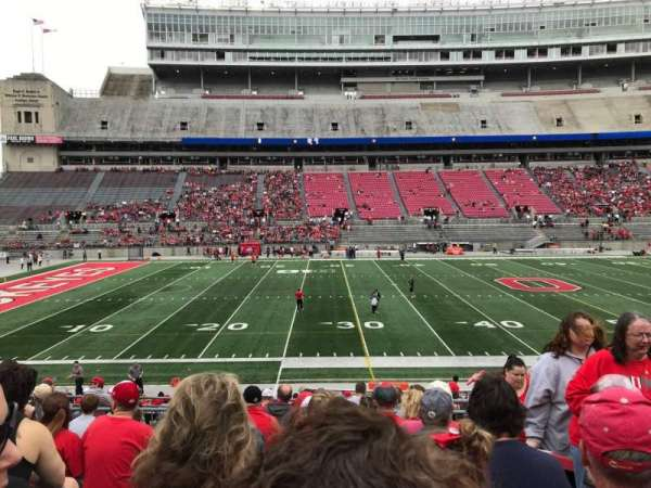 Ohio Stadium, section: 24a, row: 9, seat: 7