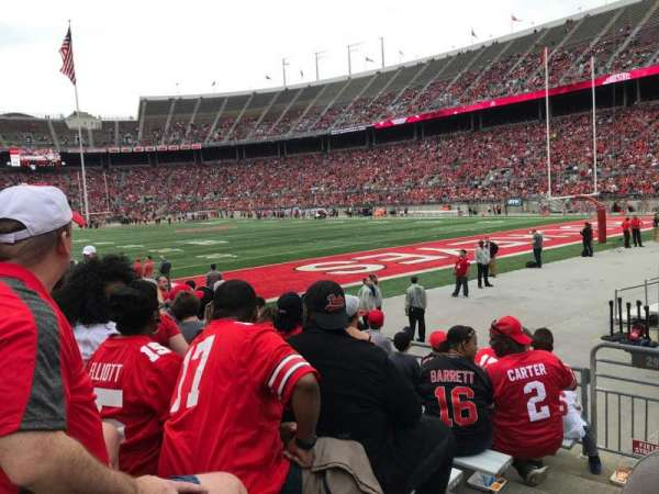 Ohio Stadium, section: 29aa, row: 8, seat: 16