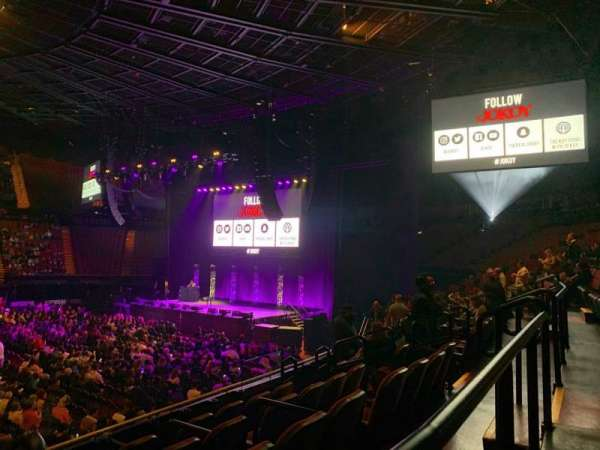 The Forum, section: 110, row: 6, seat: 1