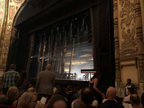 Cadillac Palace Theater, section: ORCH R, row: H, seat: 22