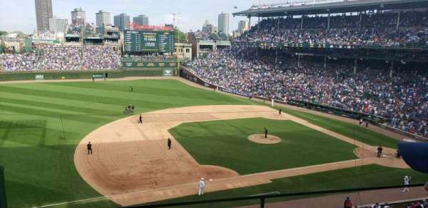Wrigley Field, section: 308L, row: 2, seat: 2