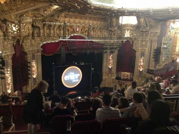Oriental Theatre, section: Balcony FL, row: S, seat: 381