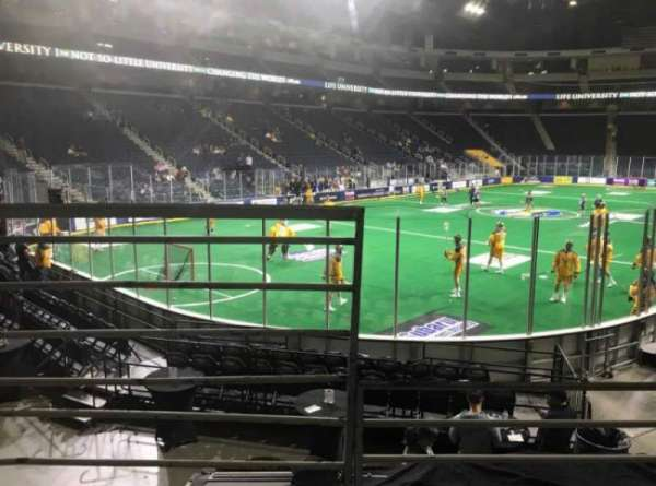Infinite Energy Arena, section: 114, row: L, seat: 11