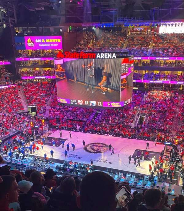 State Farm Arena, section: 221, row: J, seat: 6