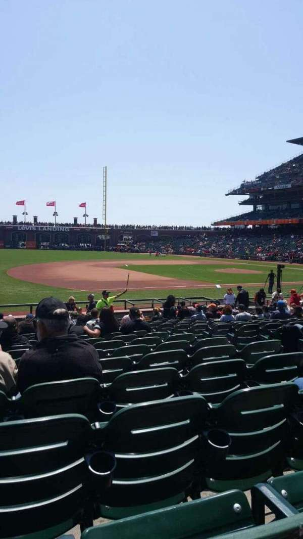 Oracle Park, section: 126, row: 19, seat: 6