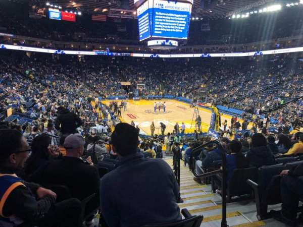 Oakland Arena, section: 123, row: 18, seat: 2