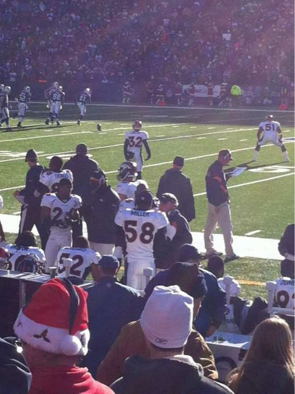 New Era Field, section: 110, row: 8, seat: 21