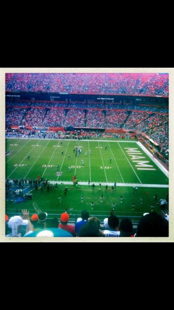 Hard Rock Stadium, section: 4102, row: 8, seat: 3