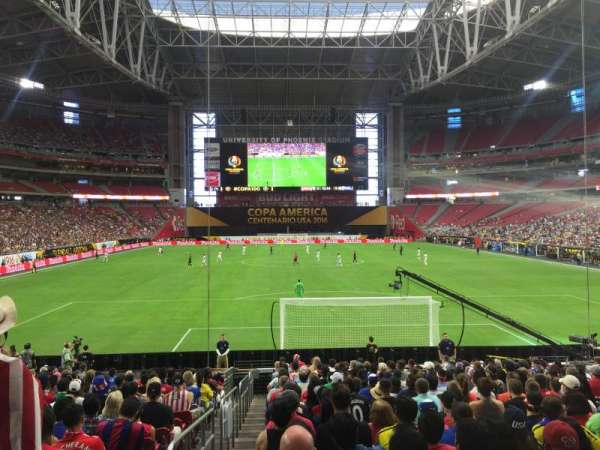 University of Phoenix Stadium, section: 119, row: 20, seat: 16