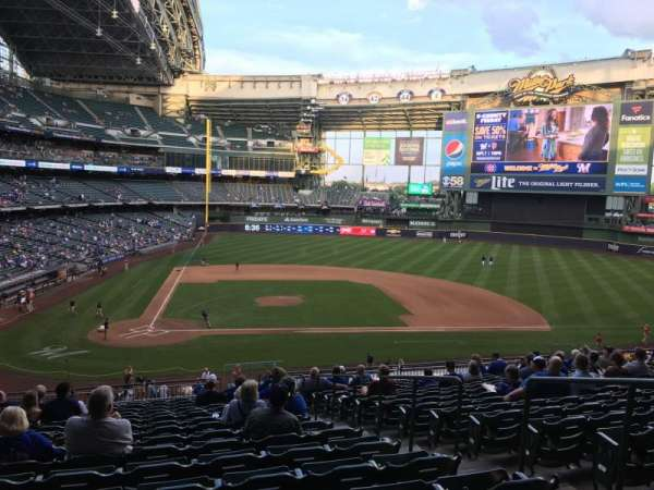 Miller Park, section: LIB215, row: 17, seat: 18