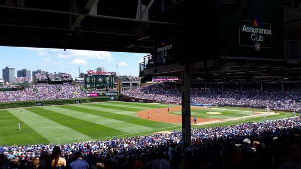 Wrigley Field, section: 206, row: 21, seat: 6