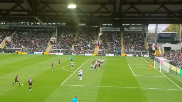 Craven Cottage, section: B, row: N, seat: 19